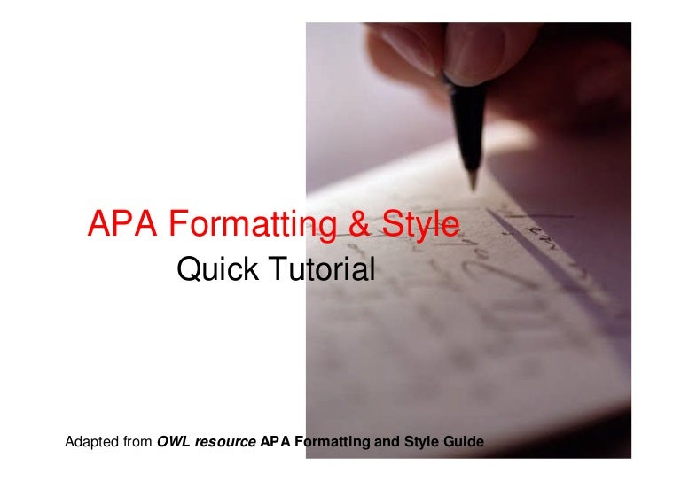 simple apa format example