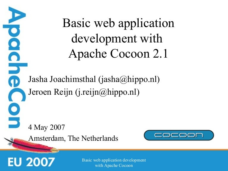 basic web application development with apache cocoon 2 1