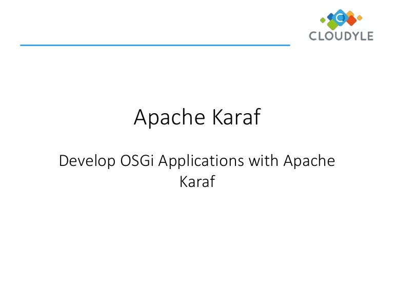 Apache karaf building osgi applications on apache karaf t frank malvernweather