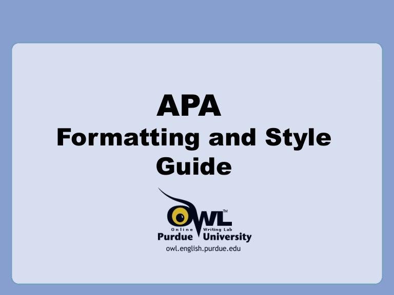 Apa Format Powerpoint Example Pinephandshakeapp