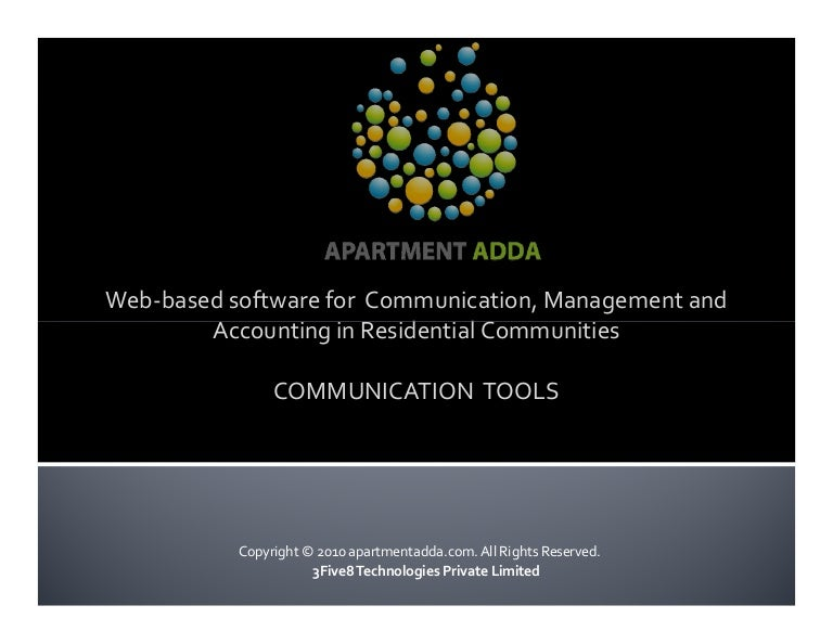ApartmentADDA - Communication tools for Residential ...