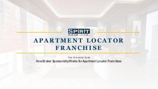 Apartment locator Franchise - Broker Sponsorship