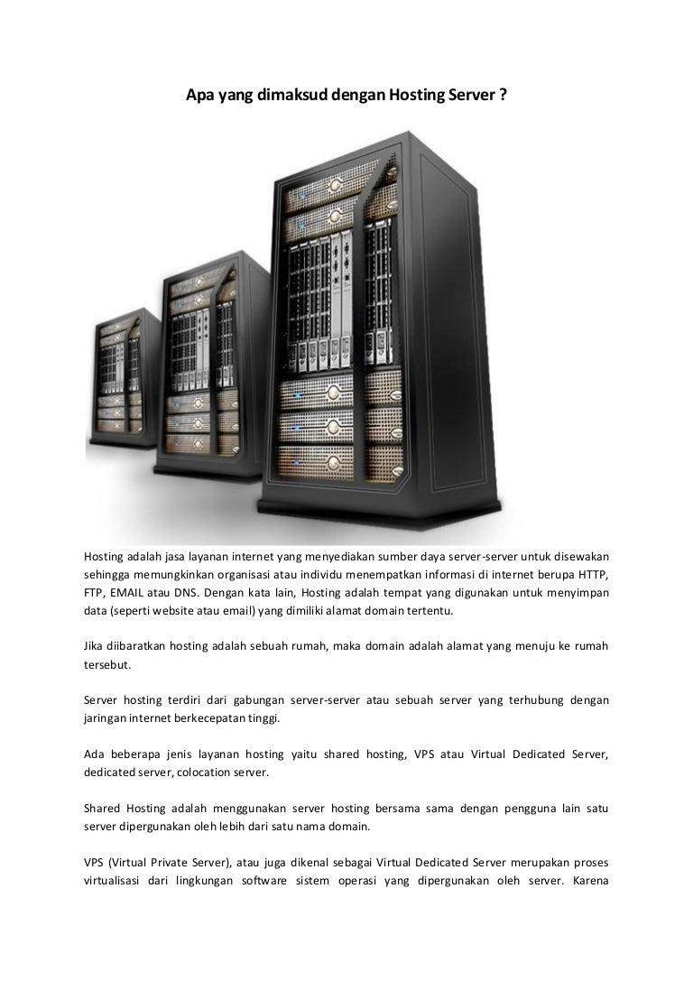 Apa yang dimaksud dengan Hosting Server ?