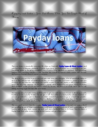 A payday direct lenders