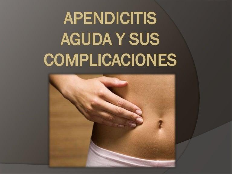 sintomas despues de una operacion de apendicitis aguda
