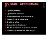 Apg training network 2011 course 1