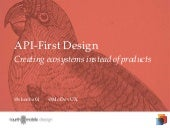 API First: Creating ecosystems instead of products