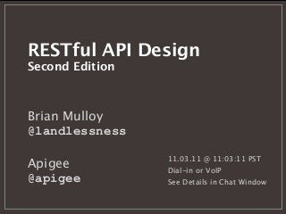 RESTful API Design, Second Edition