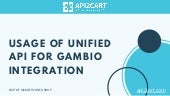 Usage of Unified API for Gambio Integration