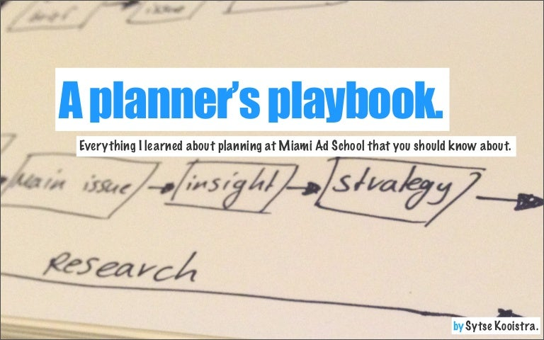 a planner's playbook - everything i learned about planning at miami a…