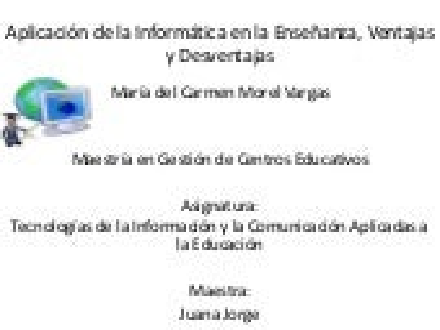 Aplicación de la informática en la enseñanza,