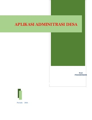 APLIKASI ADMINITRASI DESA dari CV. Nusantara Prima Group.
