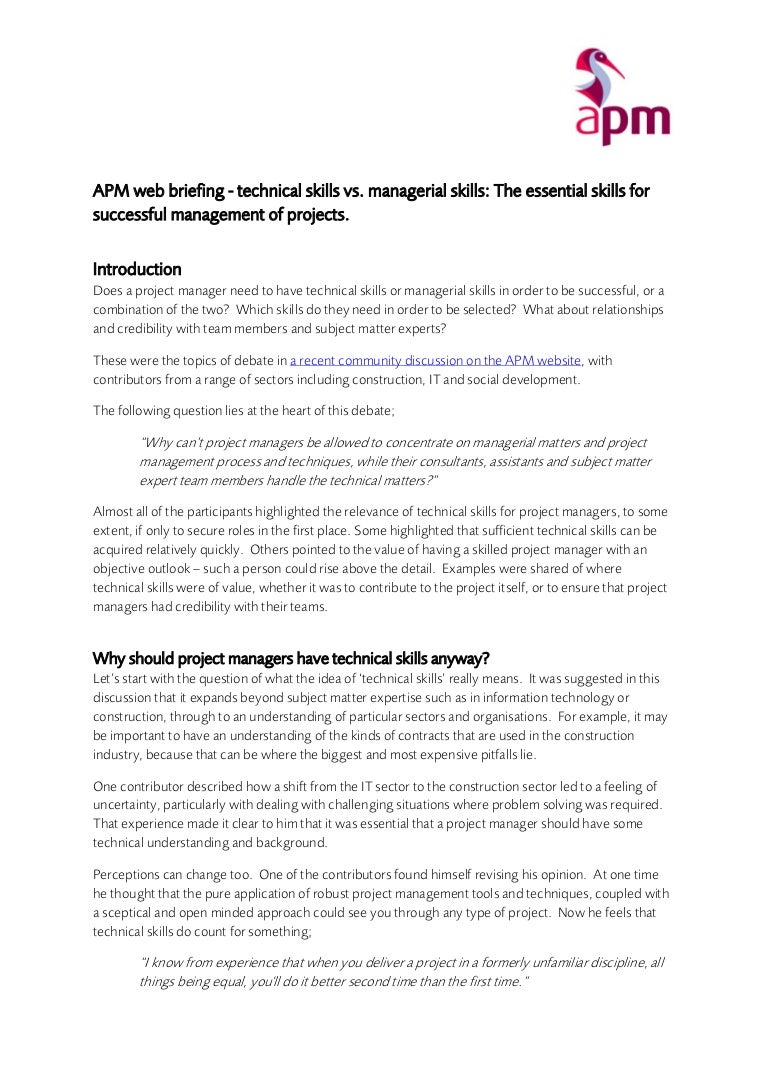 apm web briefing technical vs managerial skills v1