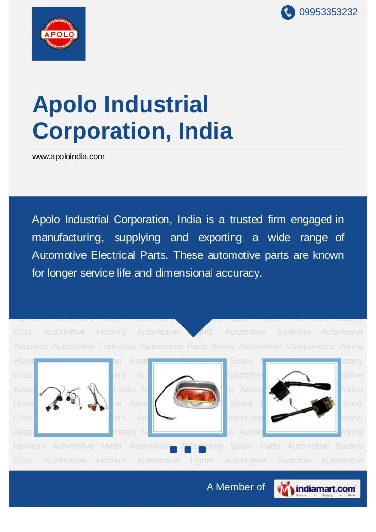 Apolo Industrial Corporation India New Delhi Automotive Electrical Wiring Terminals