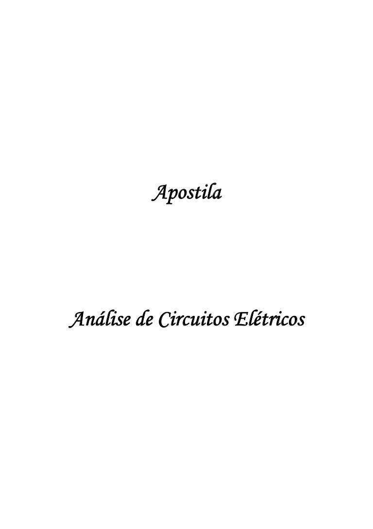 Circuito Aberto : Apostila de análise de circuitos elétricos