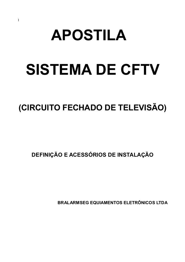 Circuito Fechado De Tv Preço : Apostila cftv