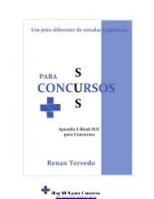 Apostila e book sus para concursos - 2013
