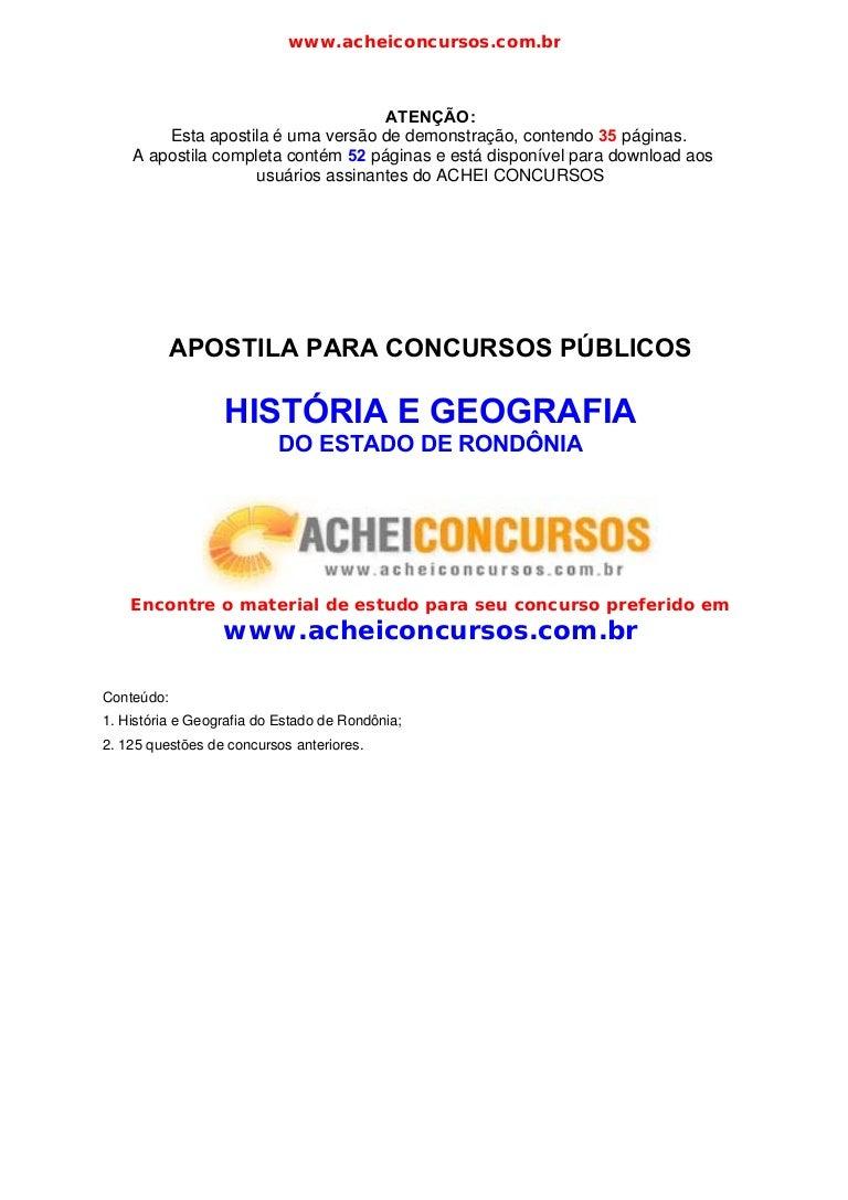 6451ca5db4 Apostila historia e geografia-rondonia