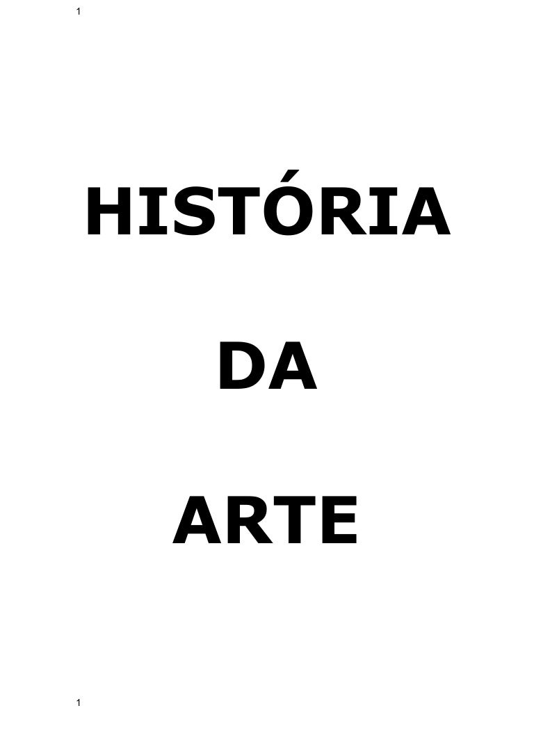 APOSTILA HISTRIA DA ARTE