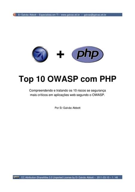 Top 10 OWASP com PHP