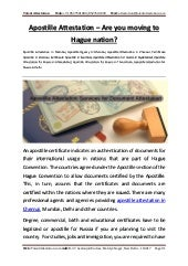 Apostille attestation – are you moving to hague nation