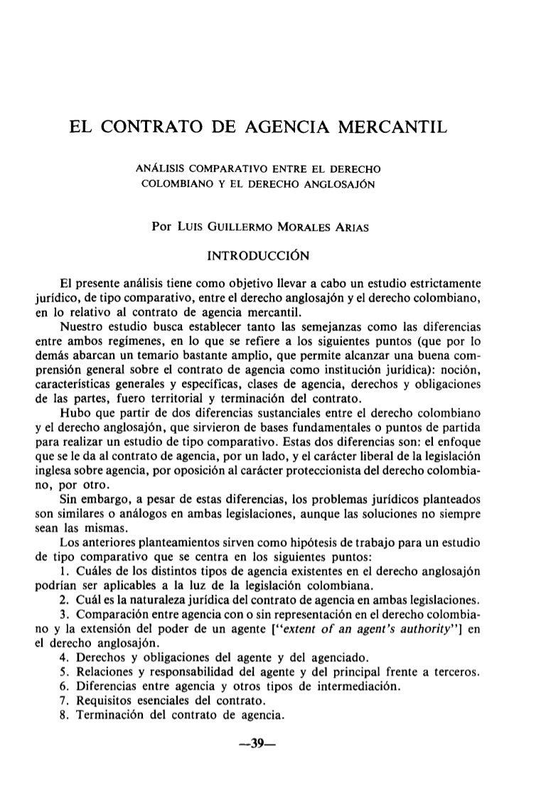 Contrato de agencia Internacional
