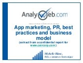 App marketing, PR and business model