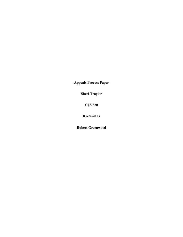 process paper outline