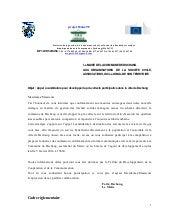 Appel à candidature precoolecte participative à dschang