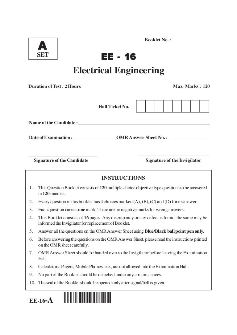 Ap Pgecet Electrical Engineering 2016 Question Paper Threephase Rectifier Input Circuit Free Electronic Circuits 8085