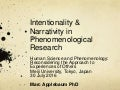 Intentionality and Narrativity in Phenomenological Research
