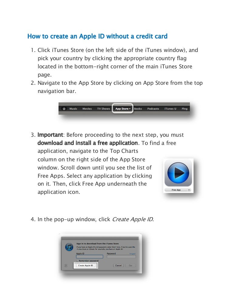 Setup Apple ID with no credit card using a PC or Apple desktop