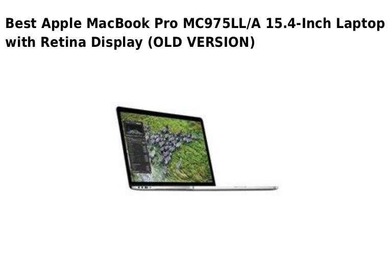 Apple mac book pro mc975ll a 15.4 inch laptop with retina