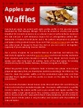 Apples and waffles