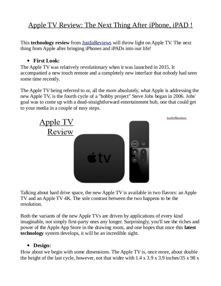Once Driven Reviews >> Apple Tv Review The Next Thing After I Phone Ipad