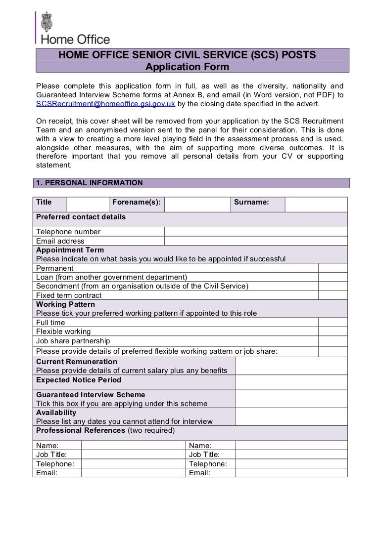 Home Office – Financial Controller - Application form