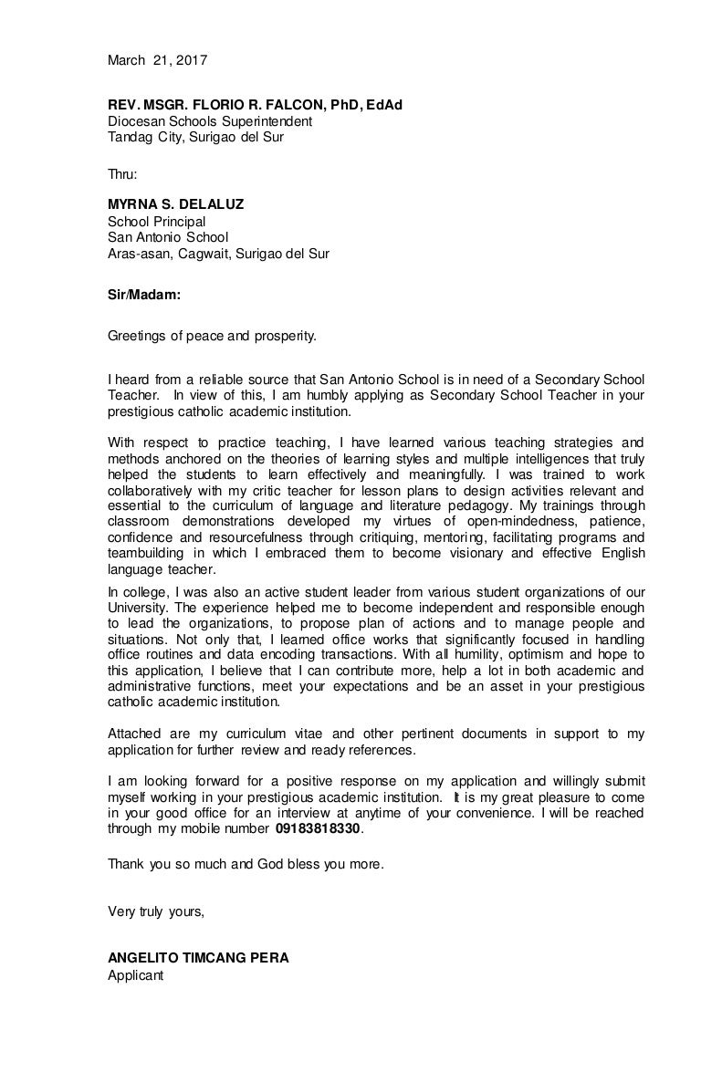 Application letter and resume\'