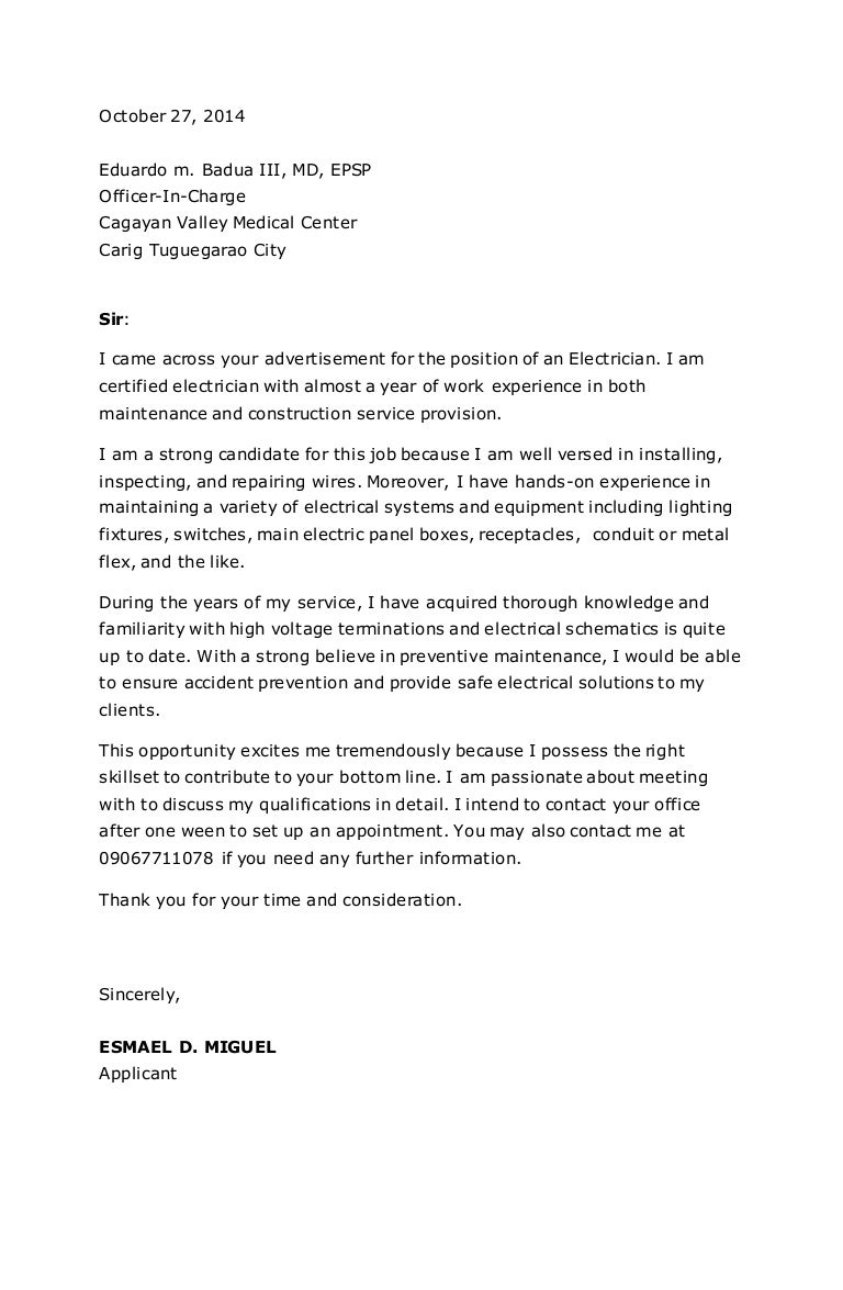Marvelous Electricians Cover Letter Lovely Cover Letters For Electricians