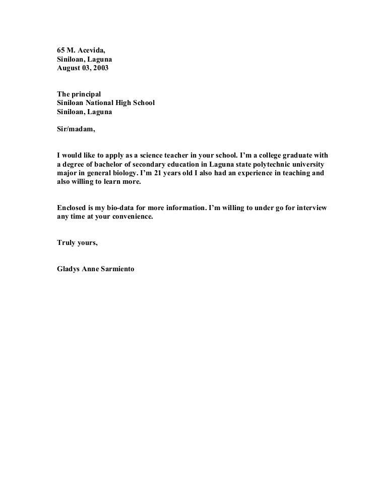 SlideShare  Application Letters