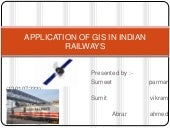 Application of gis in indian railways