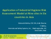 Applied industrial hygiene risk assessment globally   AIHce Montreal 2013