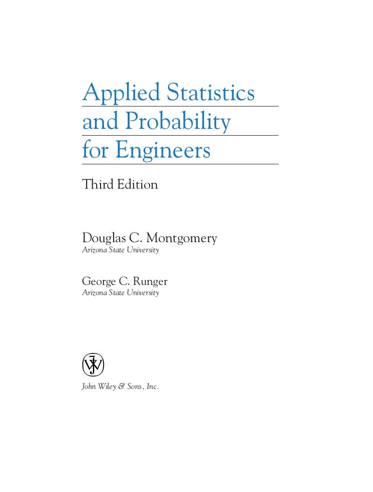 Engineers A To Z >> Applied Statistics And Probability For Engineers Solution