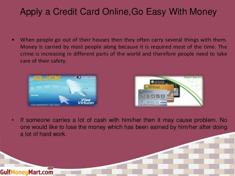 apply a credit card onlinego easy with money