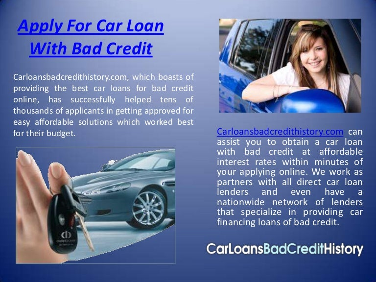 Apply For Car Loan With Bad Credit