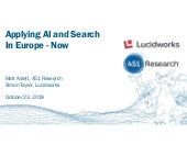 Applying AI and Search In Europe