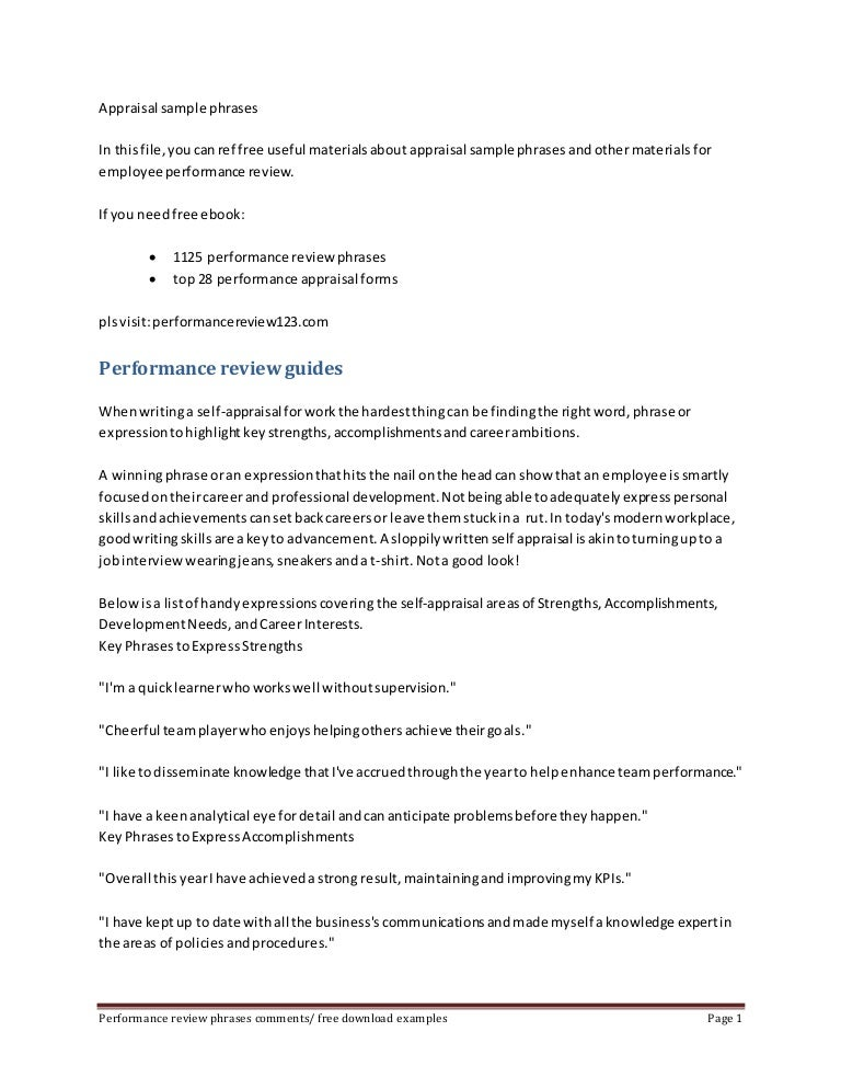 appraisalsamplephrases140904202348phpapp02thumbnail4jpgcb 1409862255 – Self Appraisal Form Template