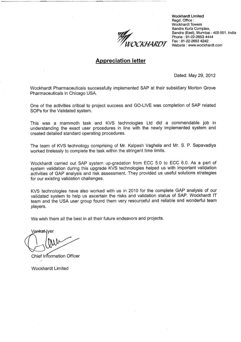 appreciation letter morton groves pharma usa