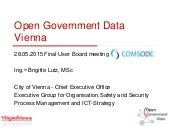 Approach to Open Data in Vienna