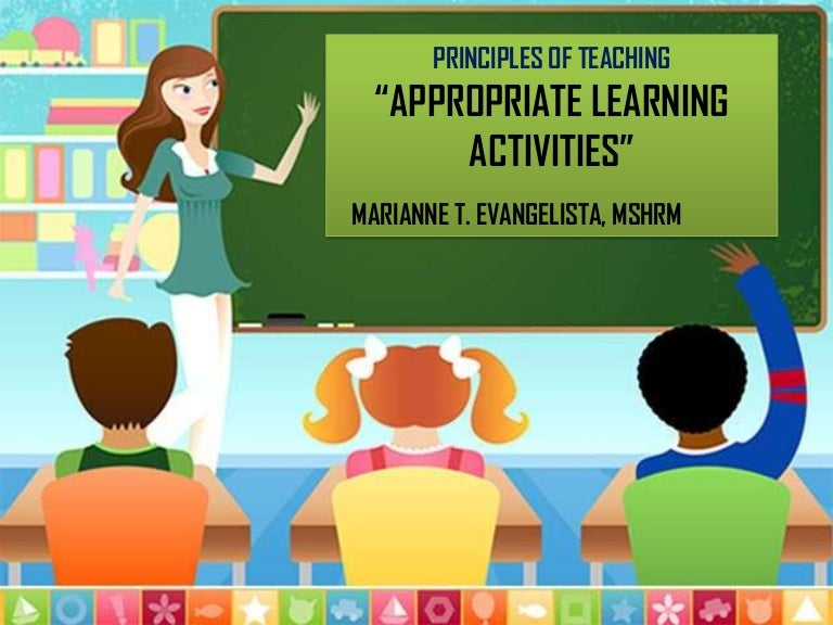 appropriate learning activities introductory and developmental activ