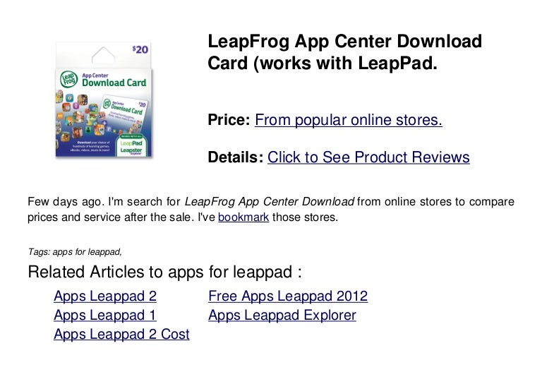 Apps for leappad